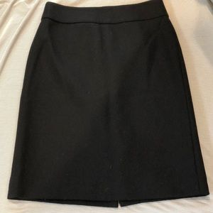 J Crew Black Knee length Wool Pencil Skirt